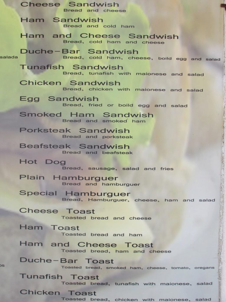 menu english mistakes